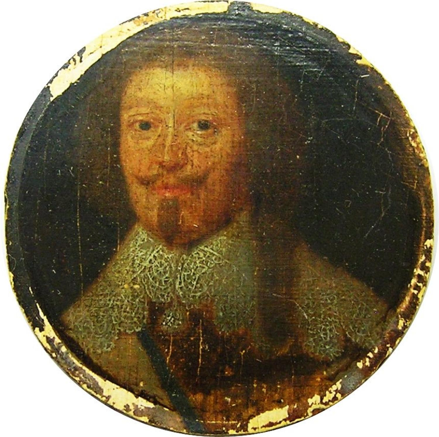 Portrait miniature of Charles de Schomberg Marshal of France