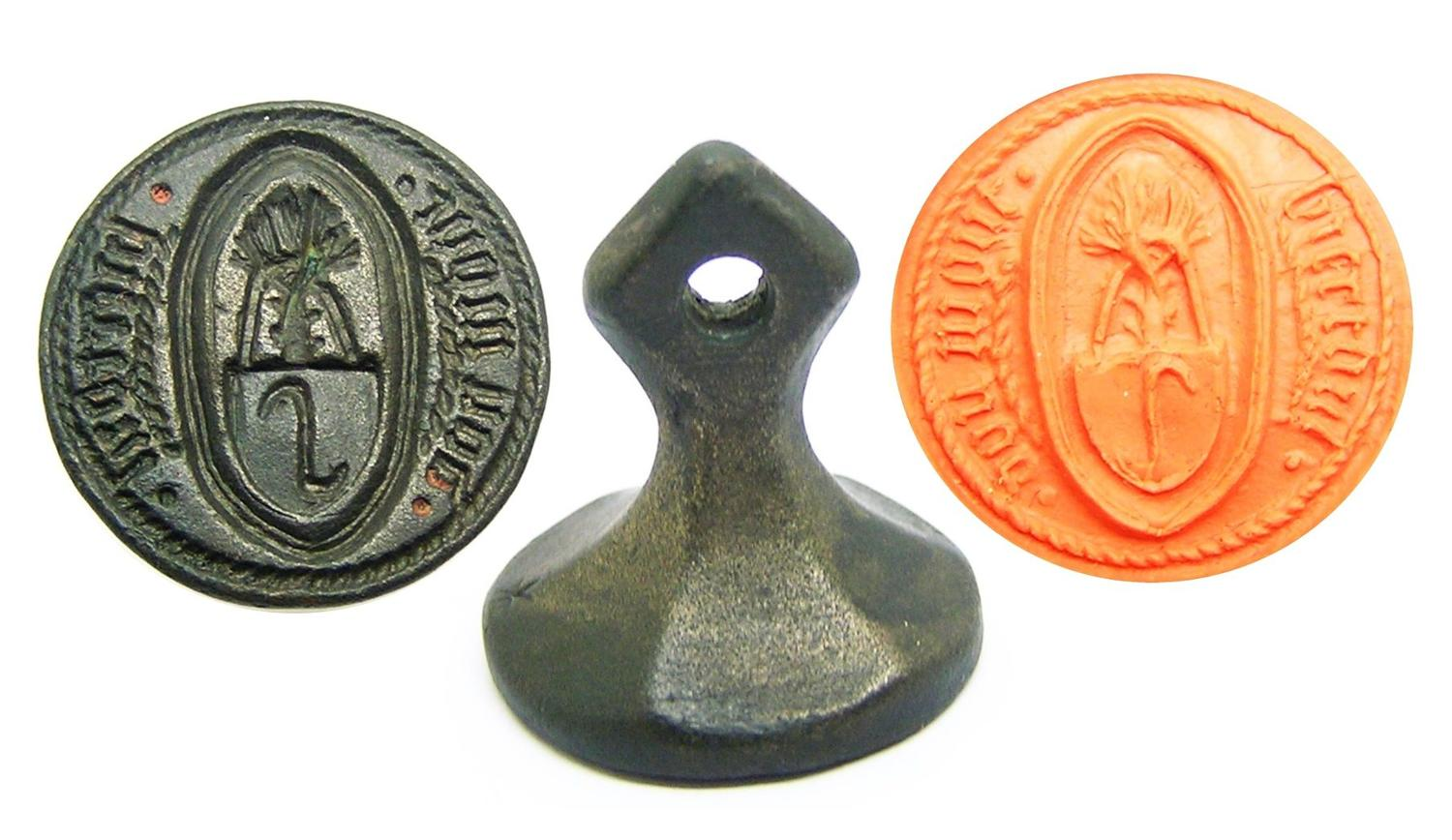 Medieval armorial seal of Biertoul dou mour
