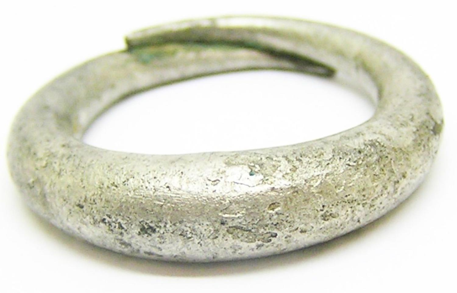 Anglo-Scandinavian or Viking-period penannular silver finger-ring
