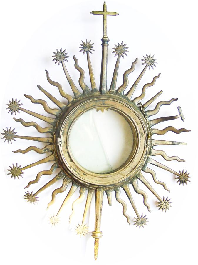Large Elizabethan silver-gilt monstrance Recrusant?