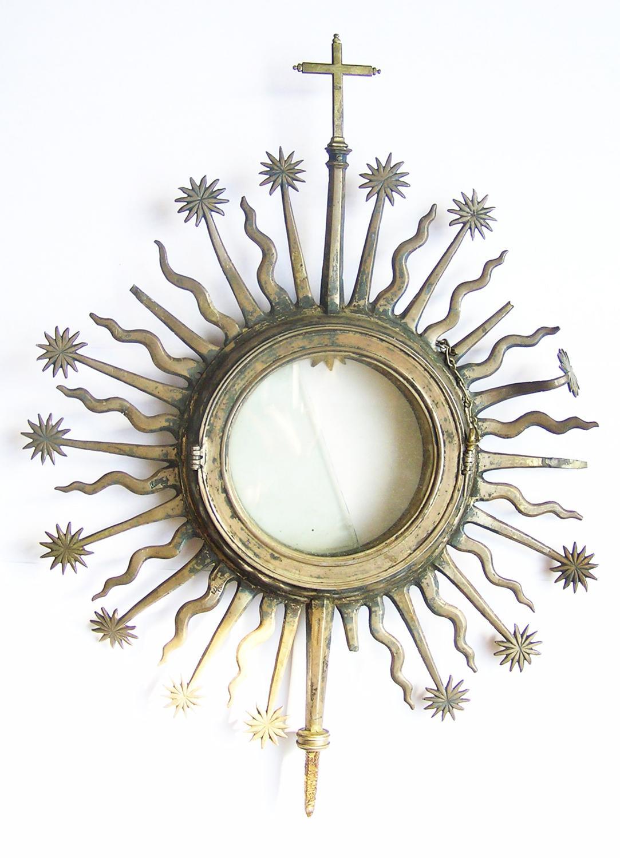 Large Elizabethan silver-gilt monstrance Recrusant?
