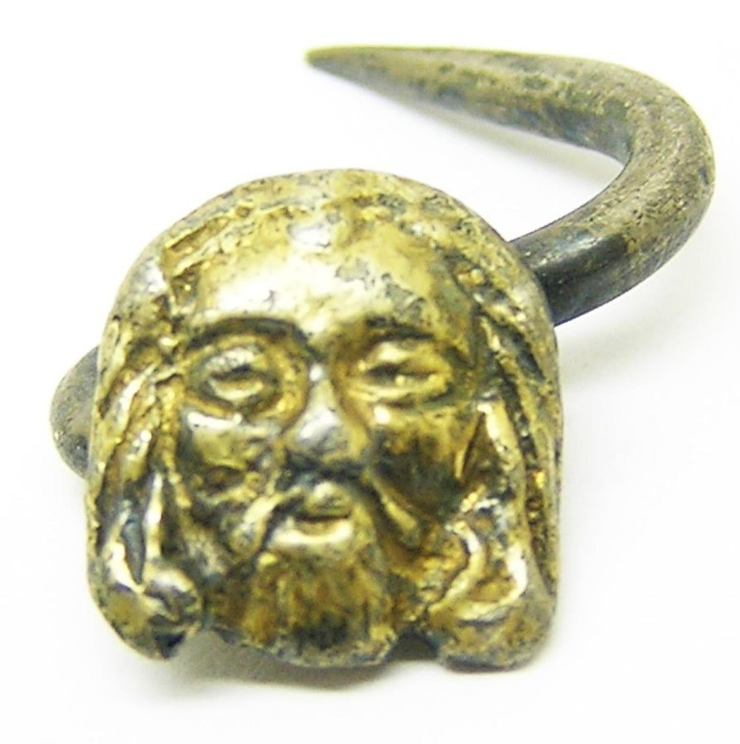 Tudor silver gilt hat pin / badge Salvator Mundi