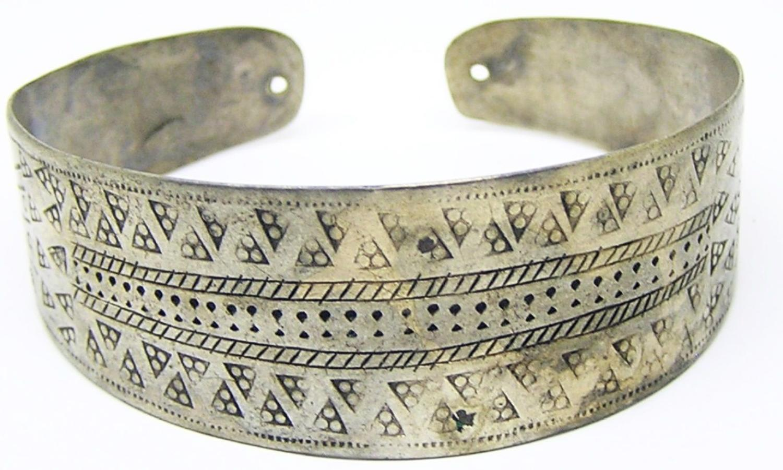 Scandinavian Viking Silver Cuff Bracelet