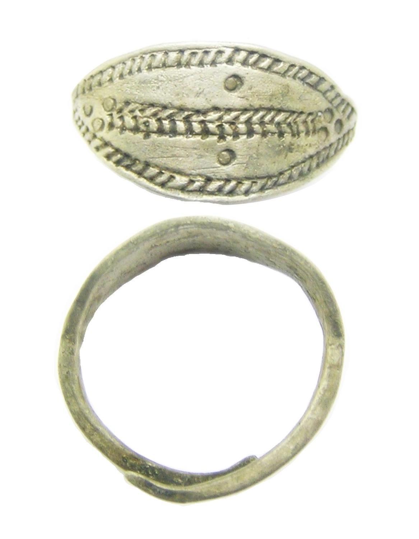 Scandinavian Viking Silver Lozengiform Finger Ring