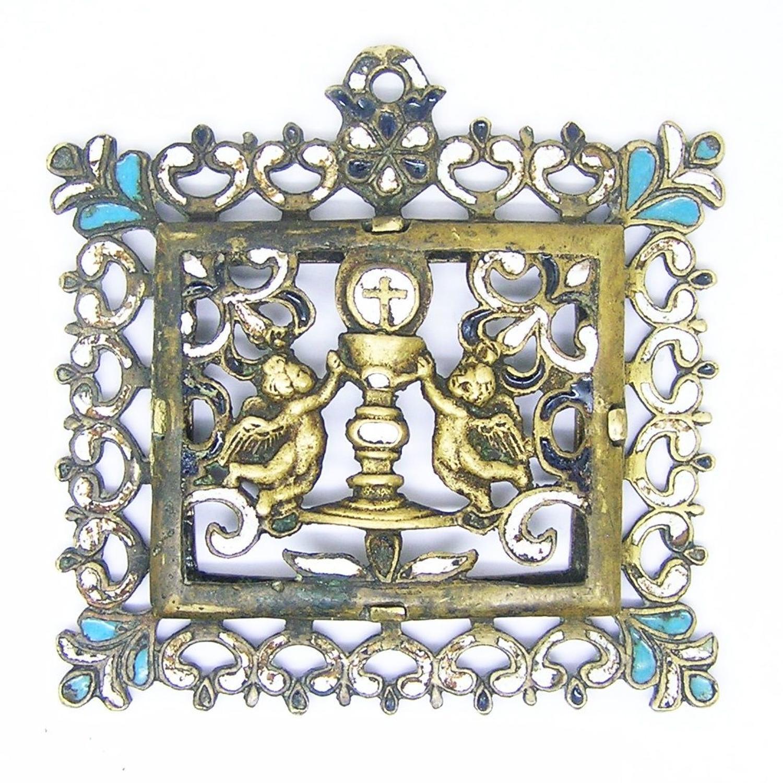 Renaissance enamelled bronze Veneras Eucharist