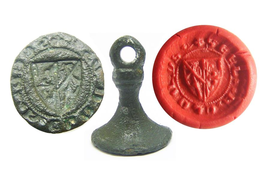 Medieval English Armorial Seal Matrice