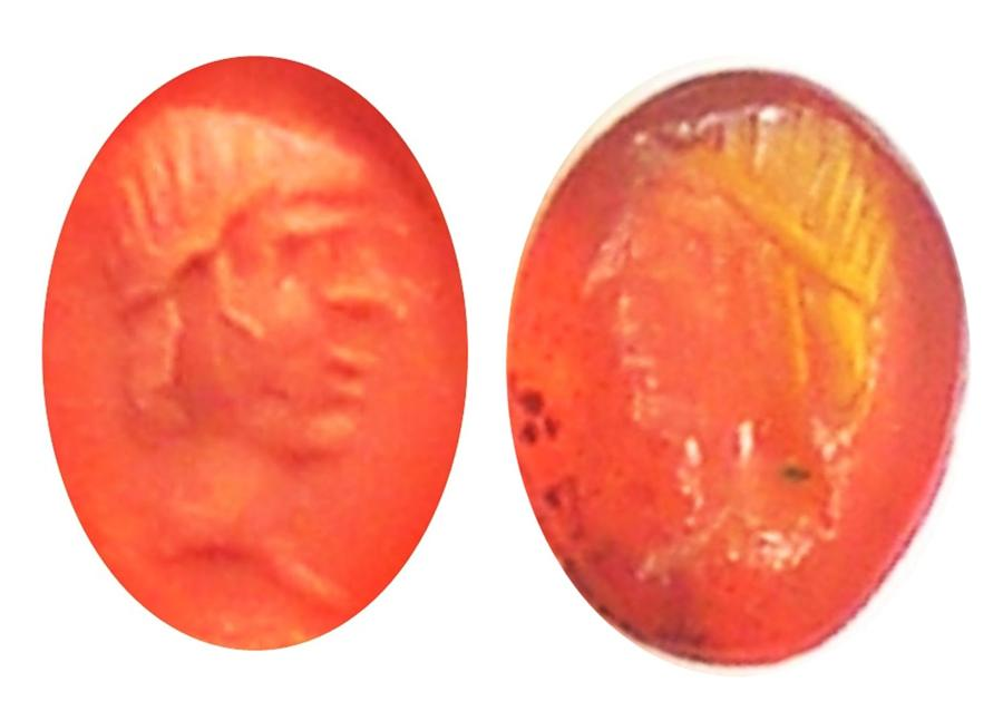 Tiny Roman intaglio of Apollo