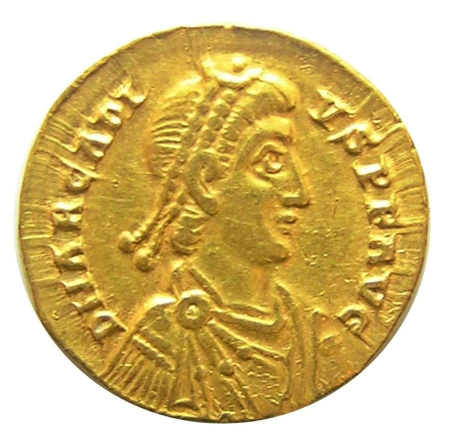 Roman Gold Solidus of Emperor Arcadius