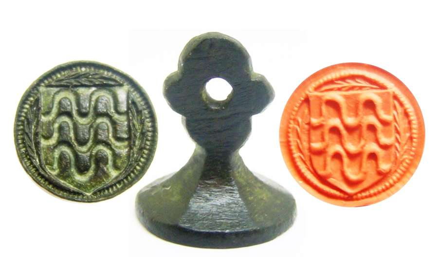 Medieval armorial counter seal matrice