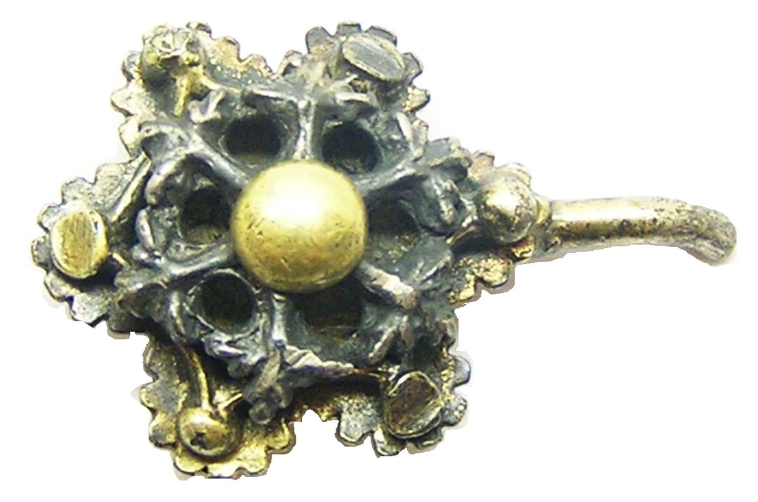 Tudor silver-gilt dress hook fastener