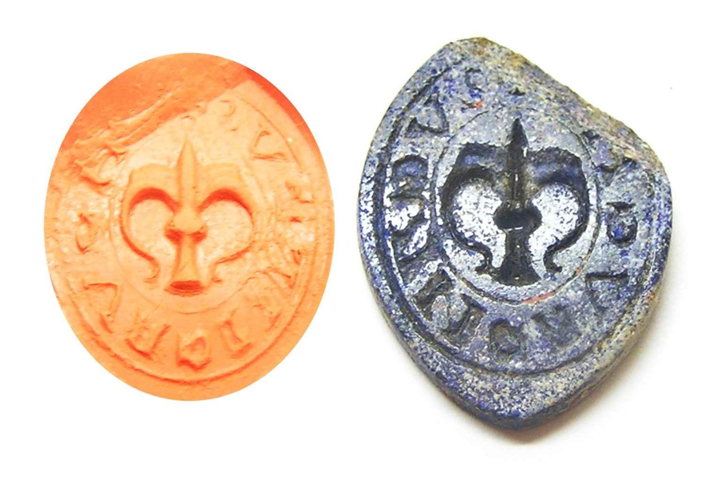 Medieval intaglio seal in lapis lazuli RARE!