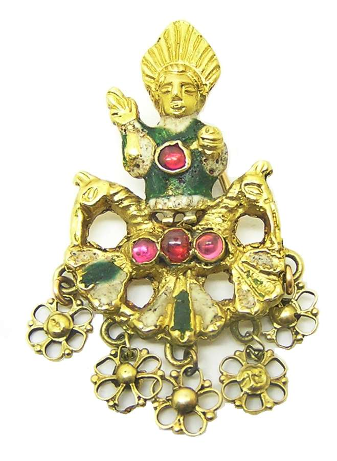 Renaissance gold and enamel jewel of Sol Invictus the unconquered Sun
