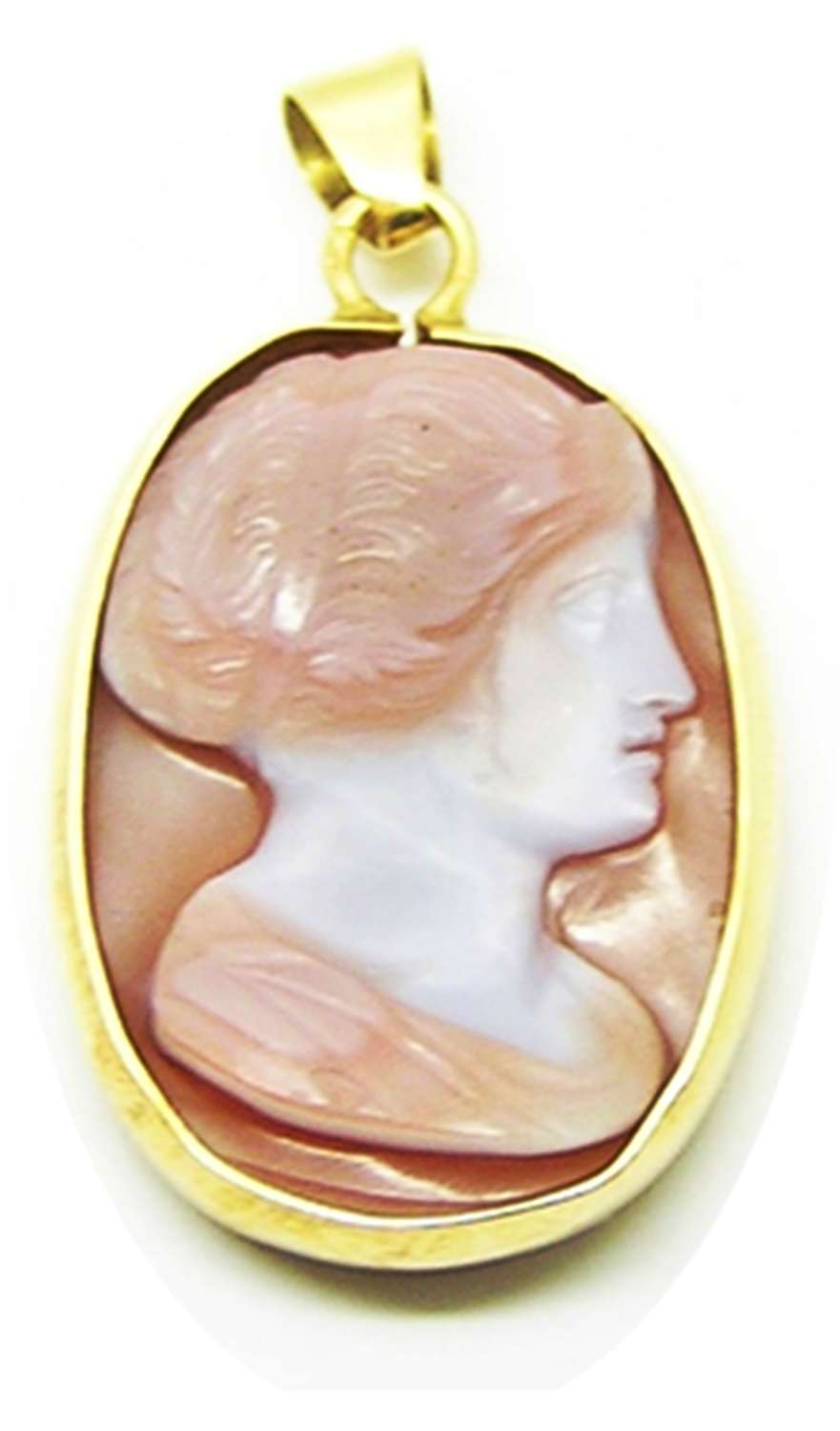 A nice antique cameo pendant of Roman lady