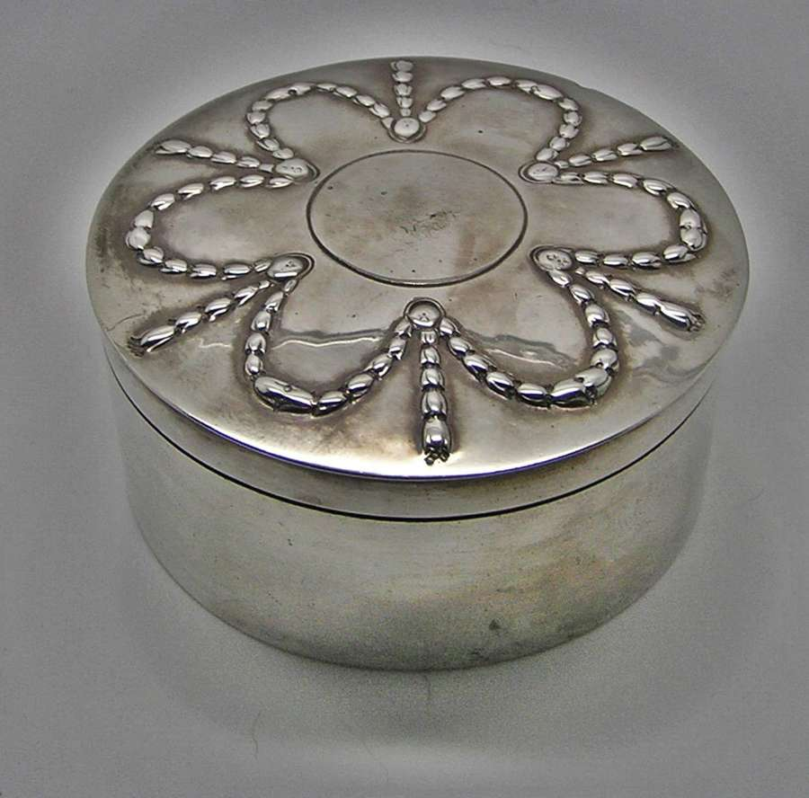 Georgian silver spice box by Andrew Fogelberg from Spetchley Park