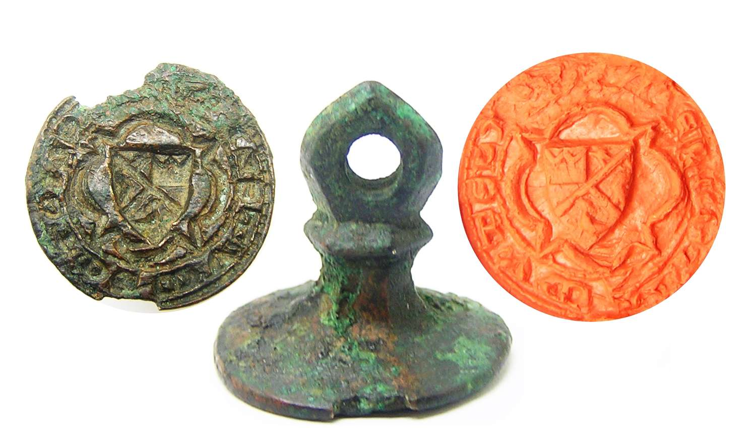 Medieval armorial seal matrice