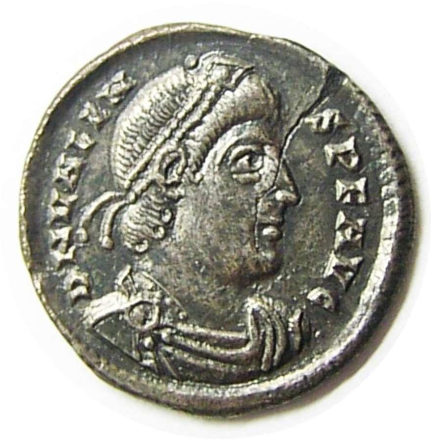 Rare Roman silver Argenteus of emperor Valens Rome mint