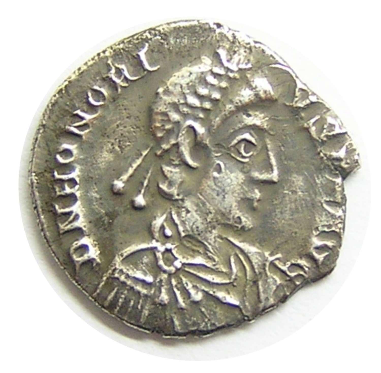 Silver Siliqua of Emperor Honorius Milan