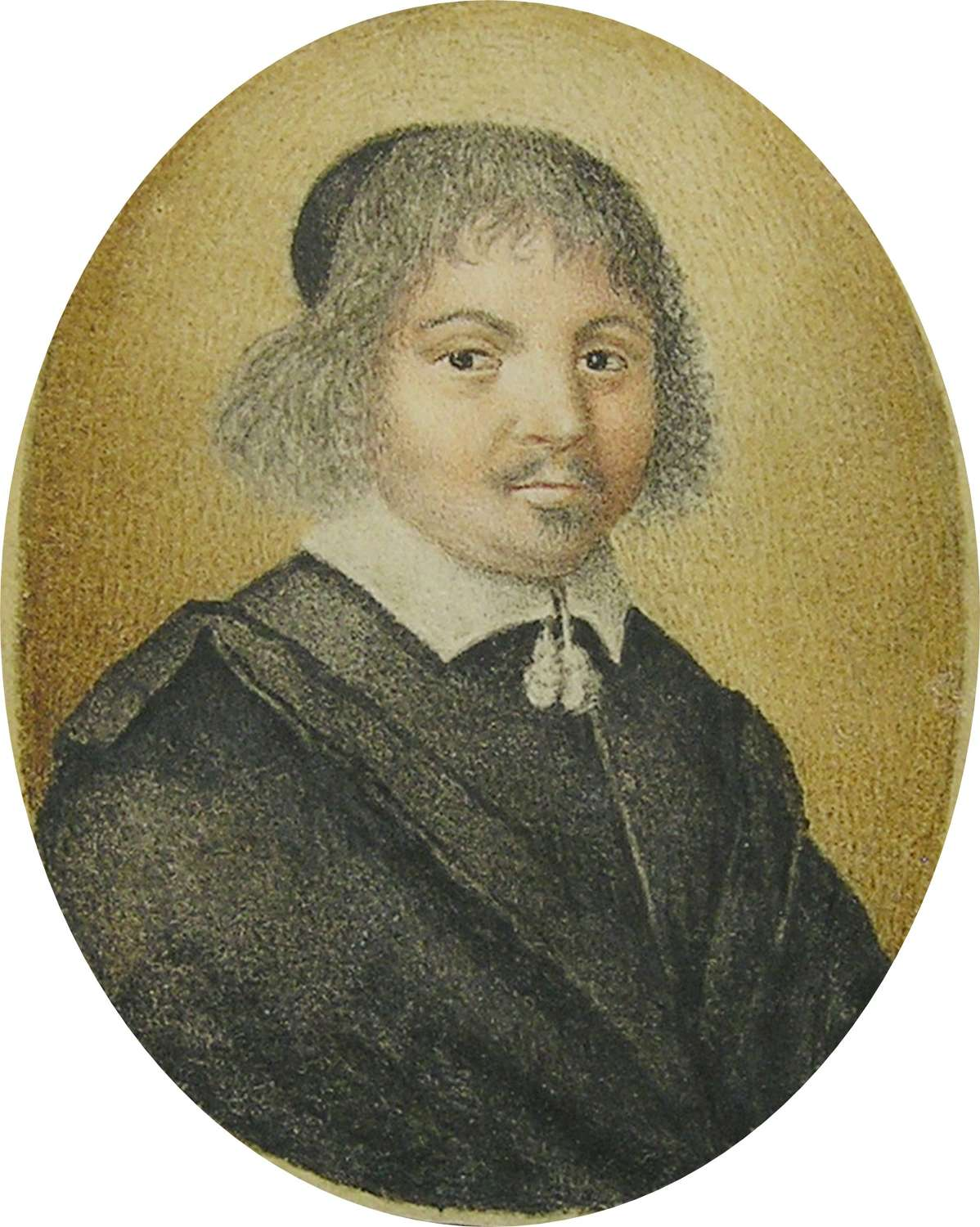 Portrait miniature of a scholar, physician, or doctor Thomas Flatman?