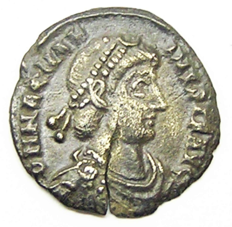 Roman Silver Siliqua of Magnus Maximus
