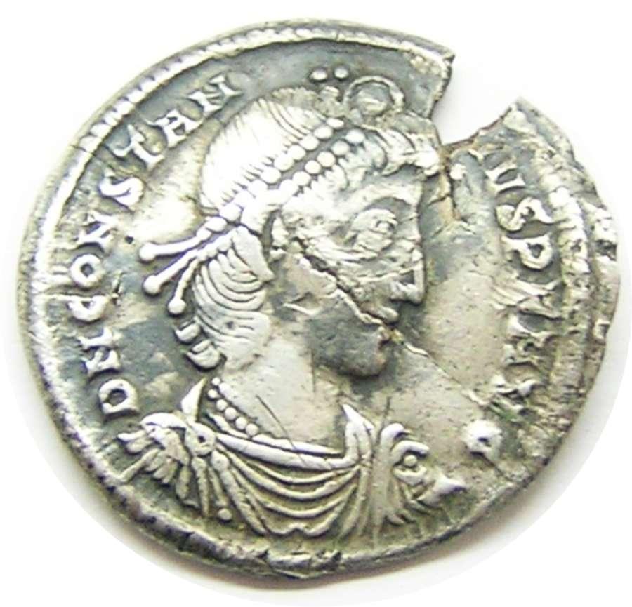 Rare Roman Silver Miliarense of Constantius II from Winchester
