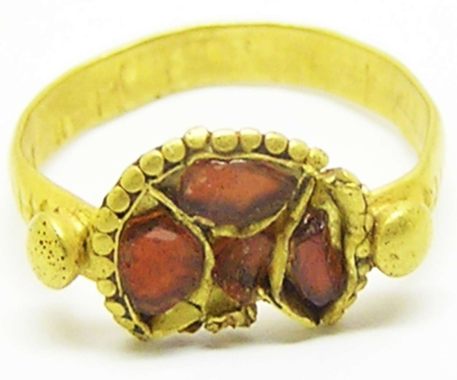 Anglo-Saxon Frankish cloisonne gold finger ring