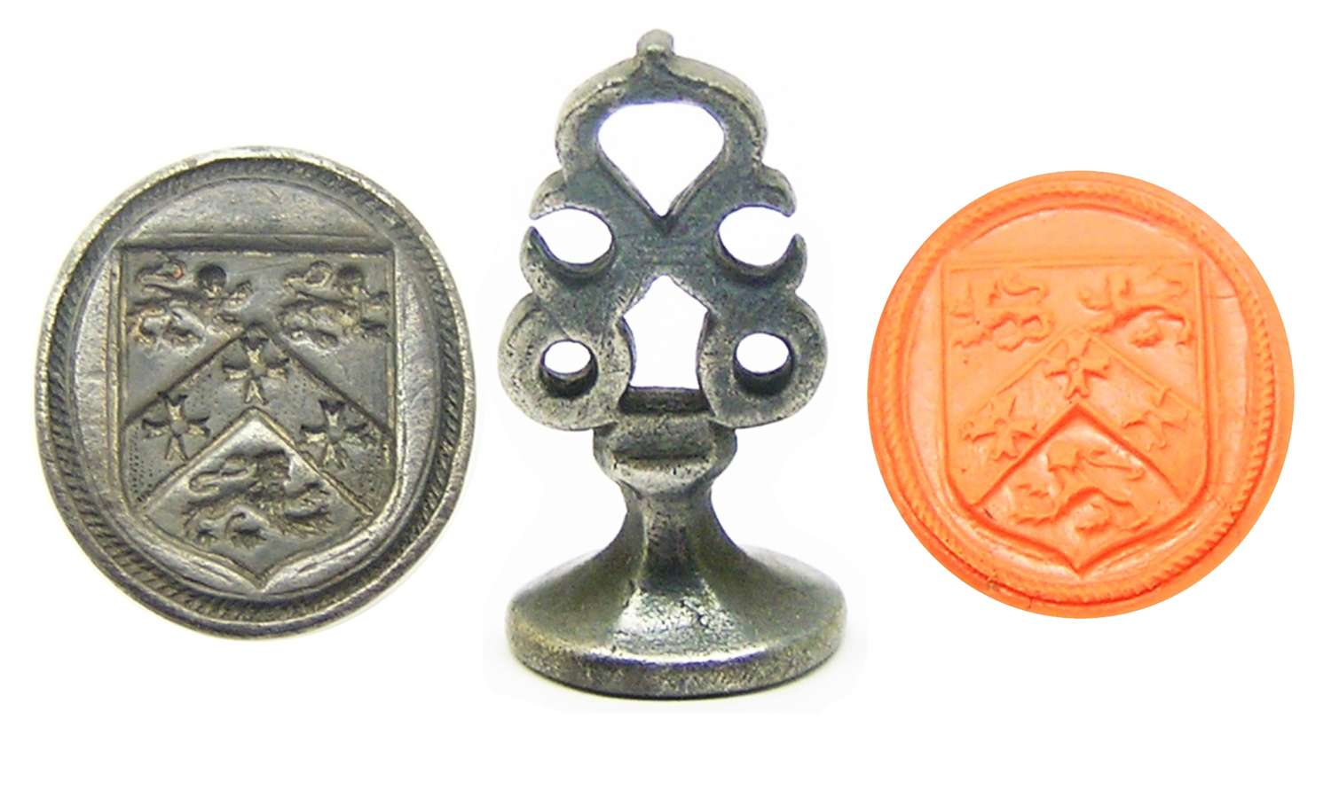 Silver armorial seal of Fowler