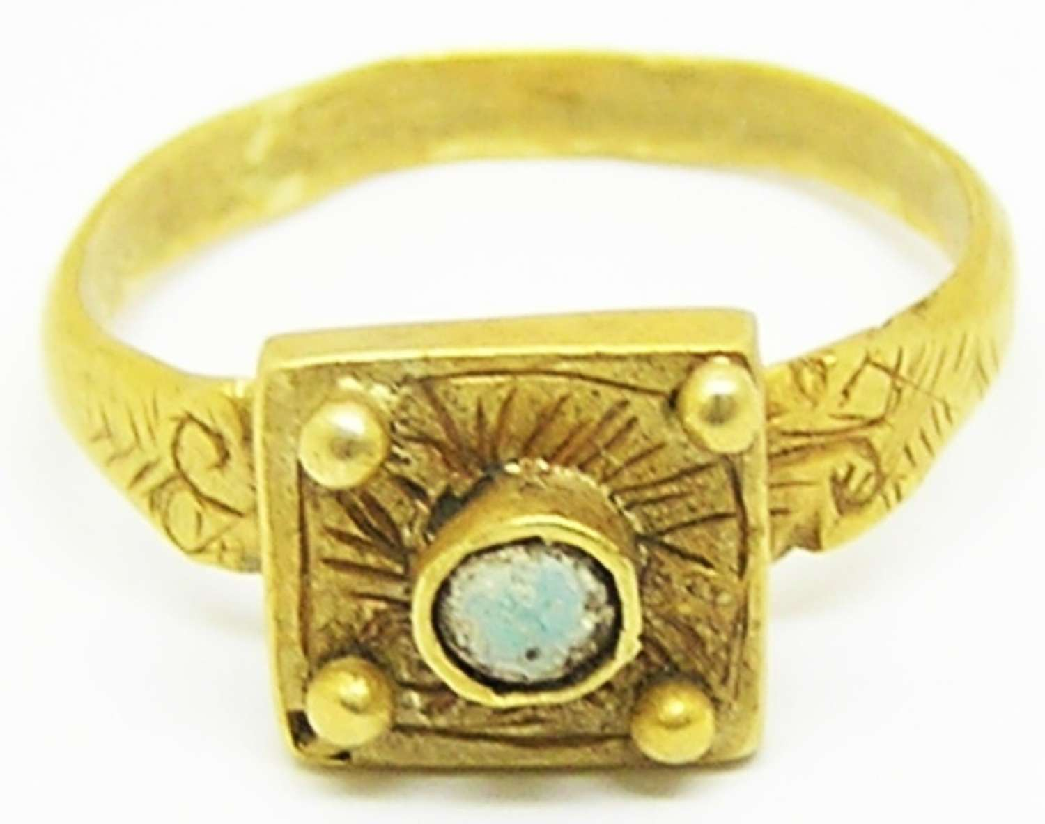 Medieval Norman period Romanesque gold ring