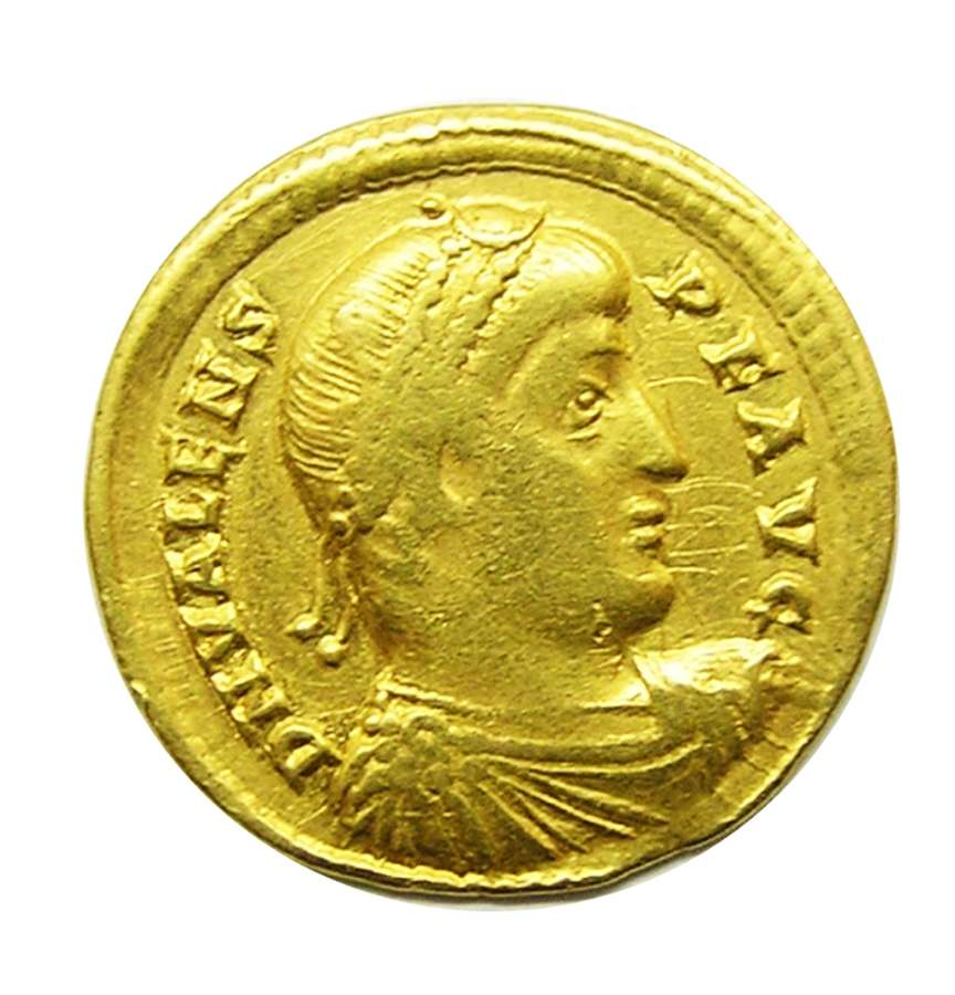 Roman Gold Solidus of Emperor Valens minted in Nicomedia