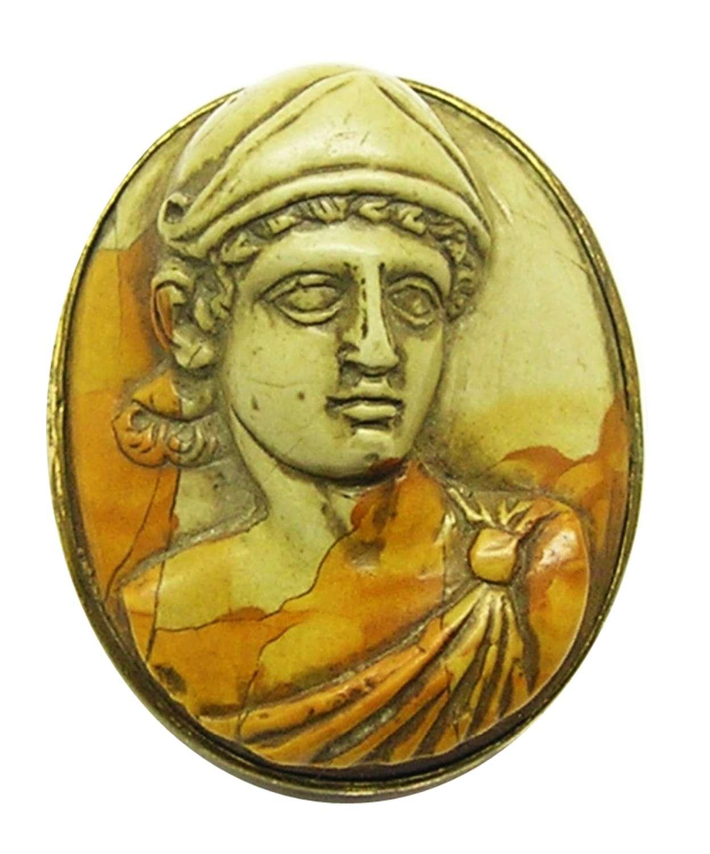 Neoclassical Lava cameo of a Julio-Claudian Mars