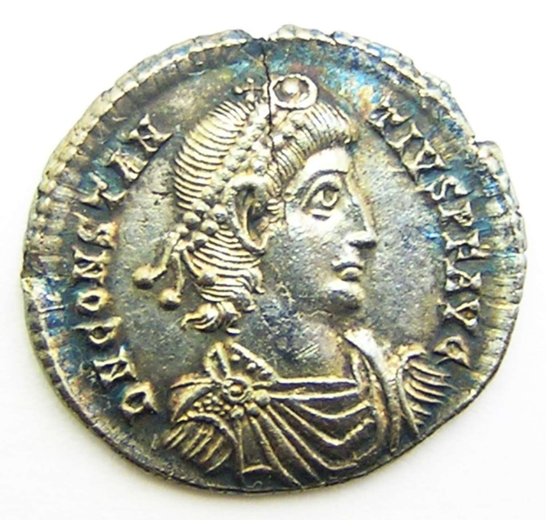 Exceptional EF Silver Siliqua of Constantius II Sirmium