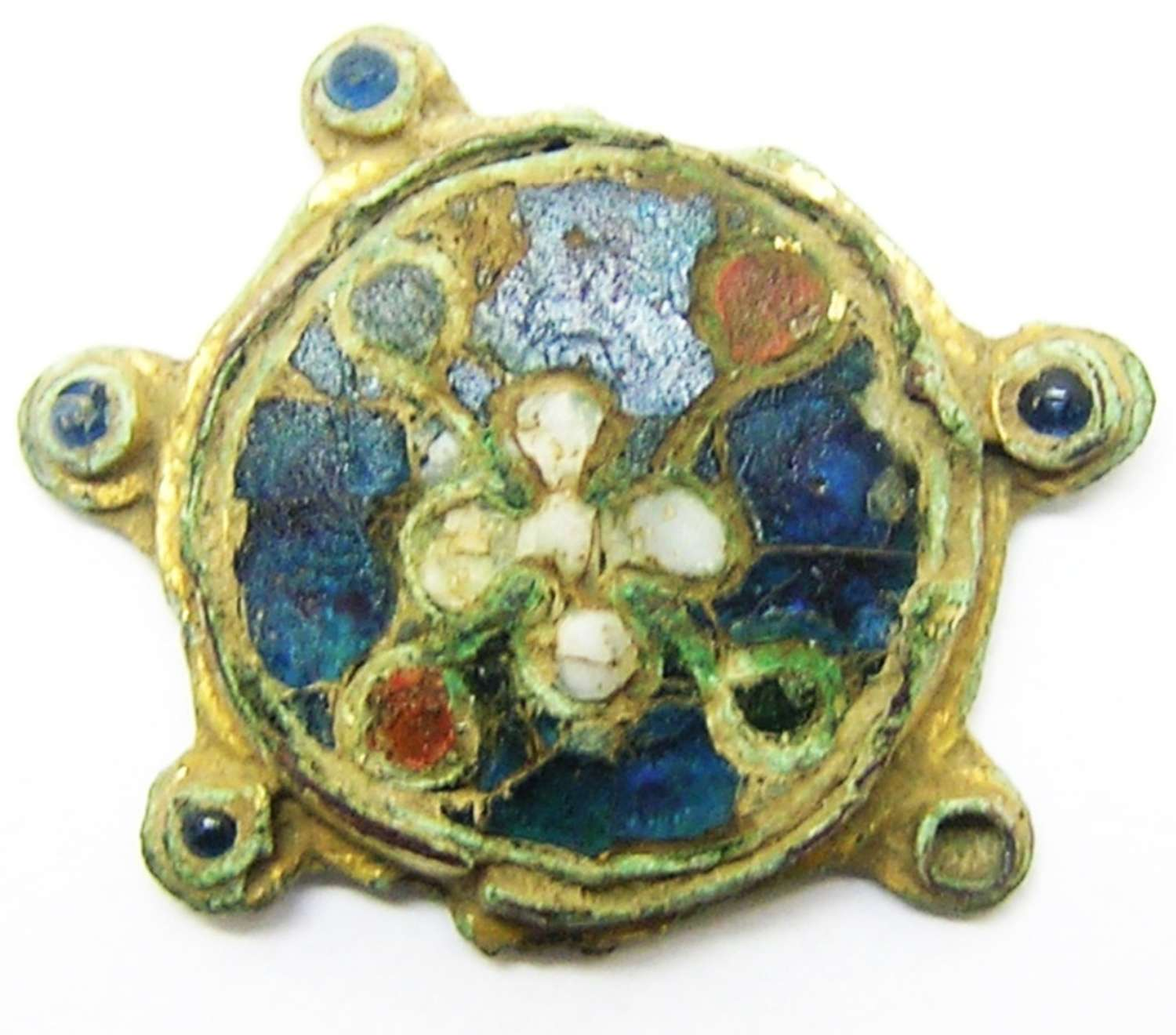 Early Medieval Saxon cloisonné enamelled brooch Saunderton type