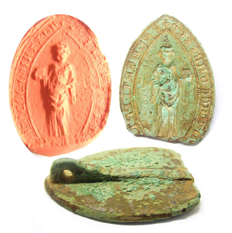 Medieval Ecclesiastic Vesica Seal of Albert Prior of Garßen