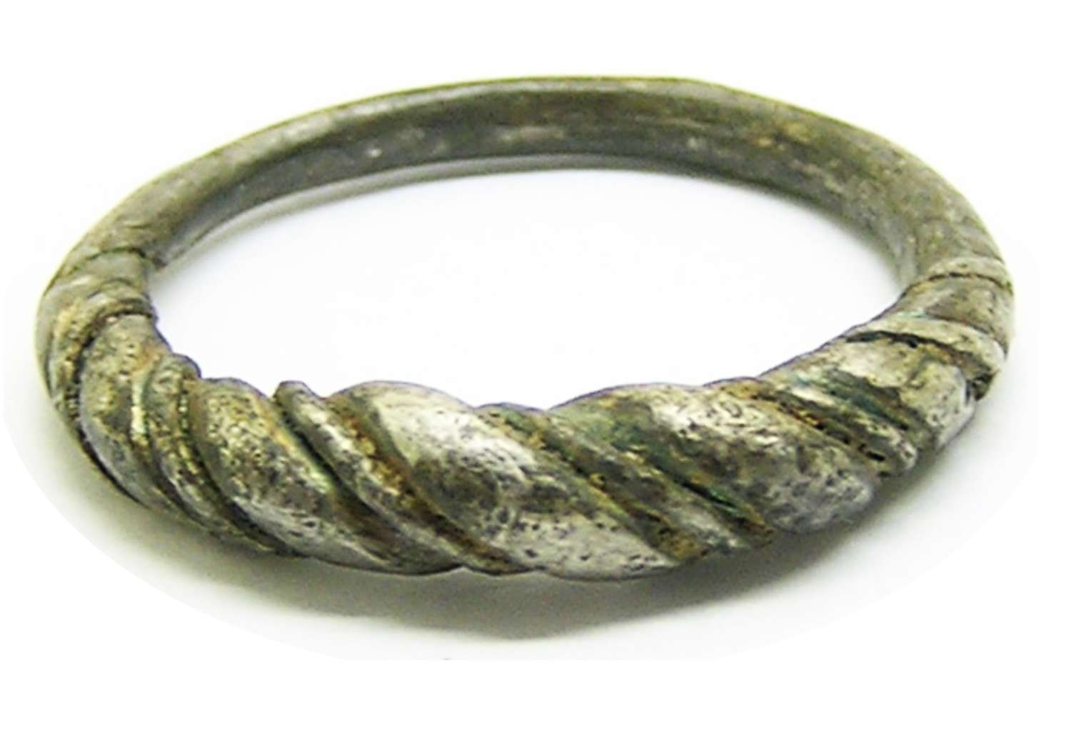Scandinavian Viking twisted silver finger ring