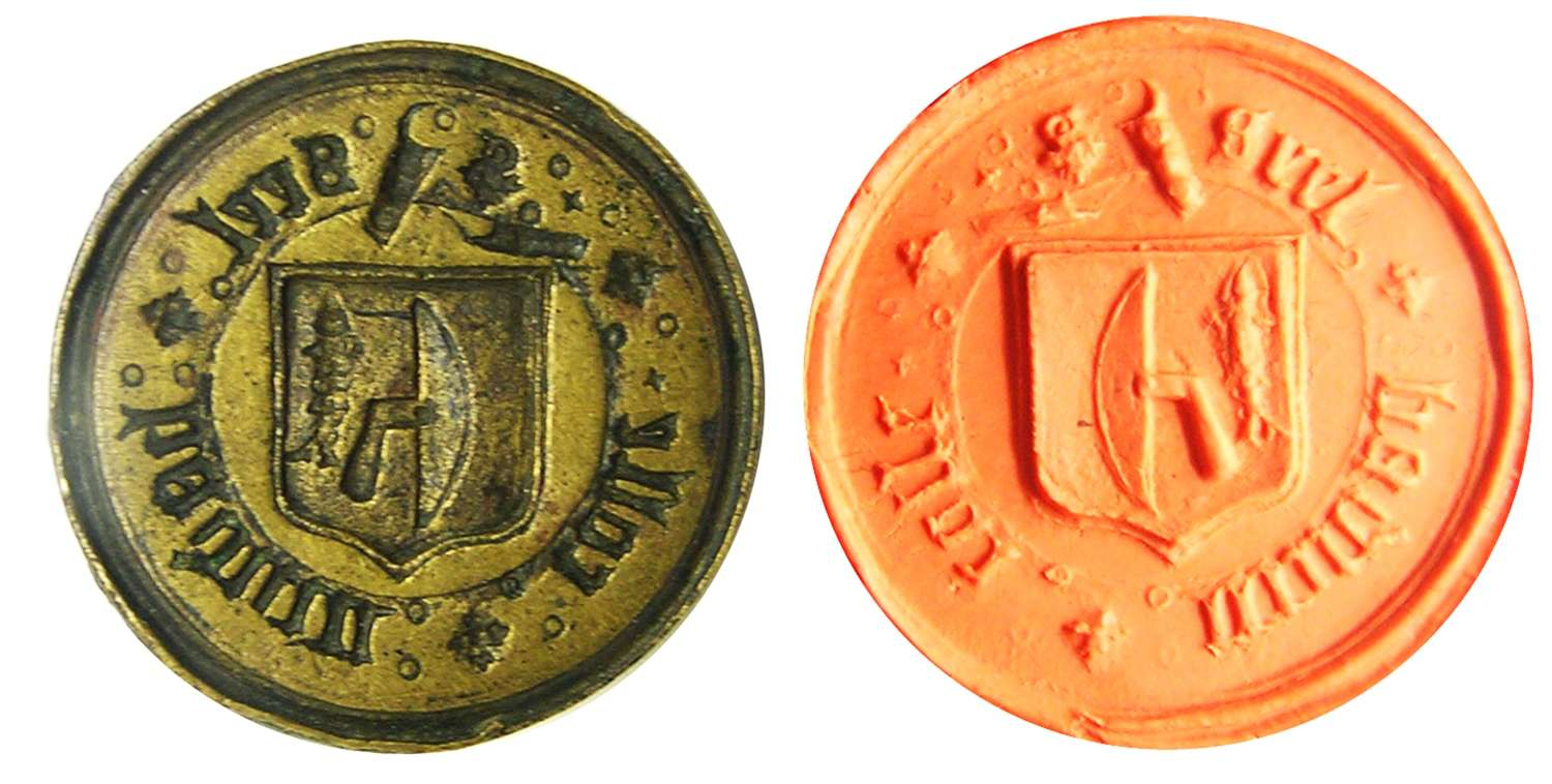Renaissance seal matrice of a Fishmonger Henry Colle