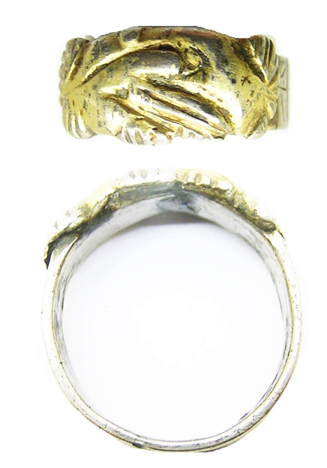 Tudor silver-gilt wedding ring