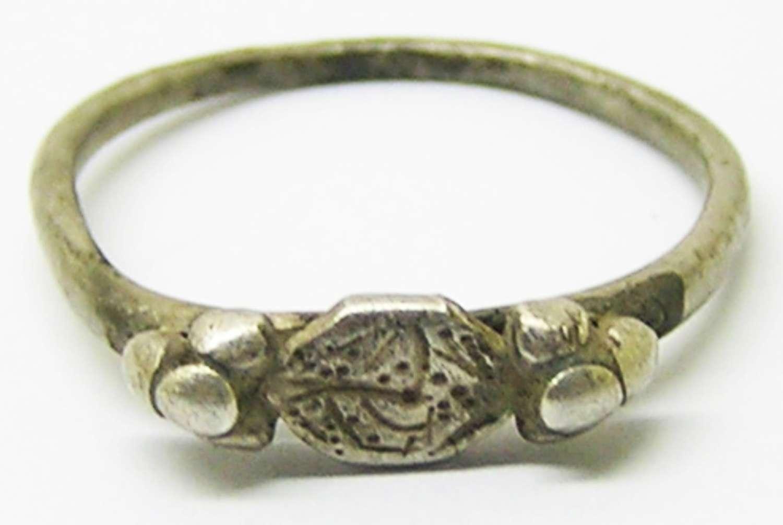 Merovingian Saxon period silver finger ring