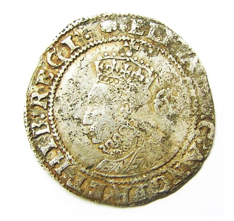 Queen Elizabeth I Tudor Silver Sixpence