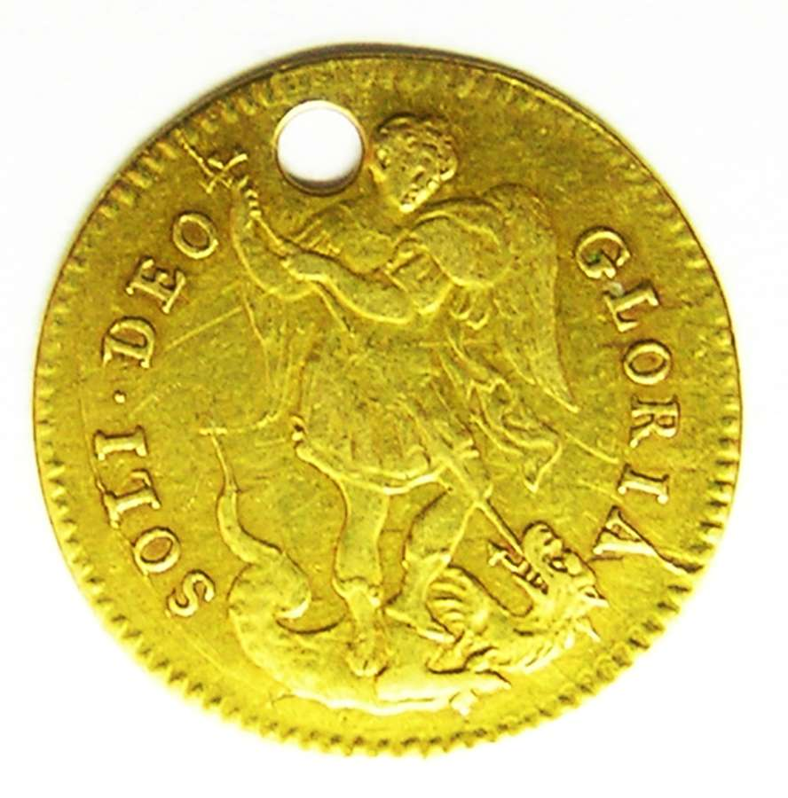 Rare gold touch piece of King James II