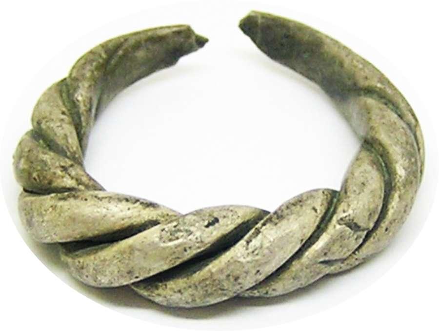 Scandinavian Viking silver finger ring