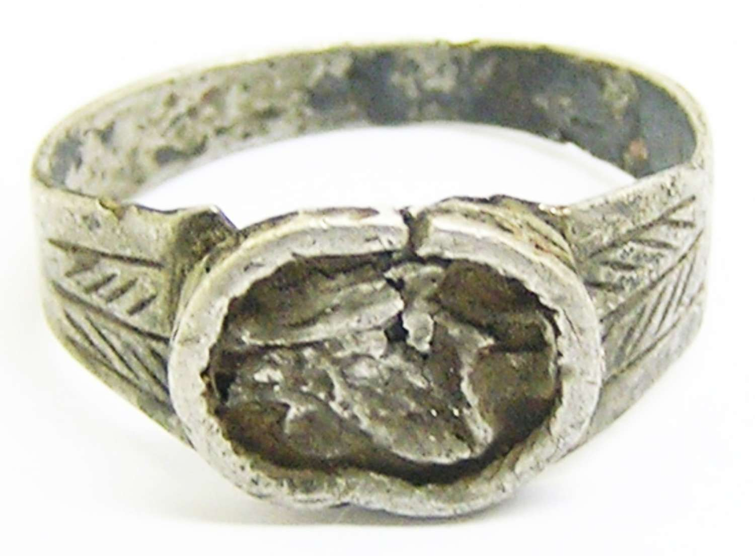 Ancient Roman silver wedding ring 'Dextrarum-Iunctio'