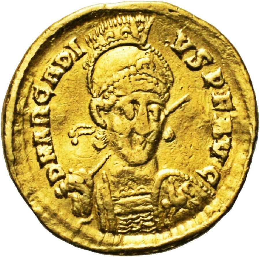 Roman Gold Solidus of Emperor Arcadius Constantinople