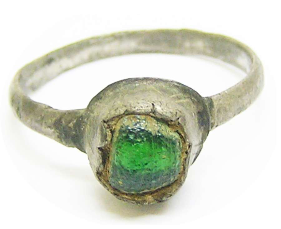 Medieval silver finger ring