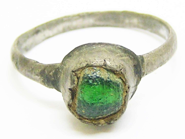 Medieval silver finger ring