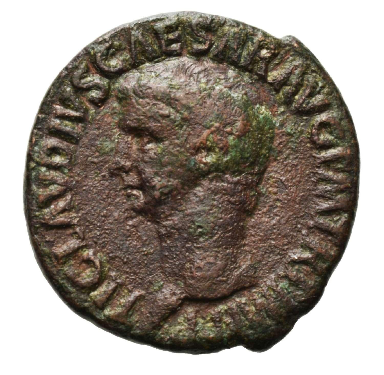 Ancient Roman AE As of Emperor Claudius / Minerva