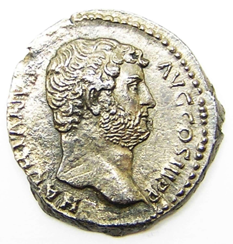 Ancient Roman Silver Denarius of Emperor Hadrian / Egypt