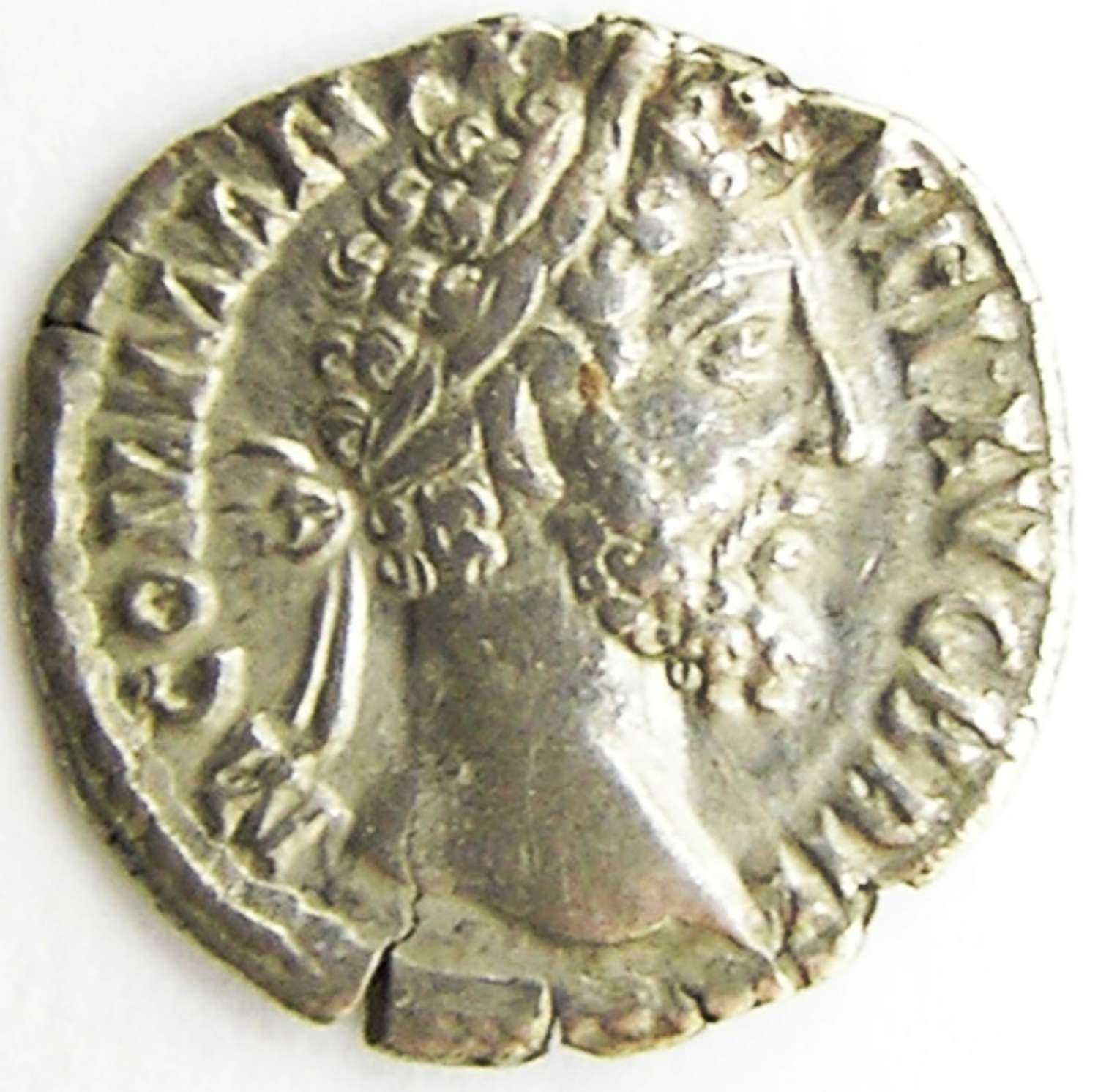 Ancient Roman Silver Denarius of Emperor Commodus
