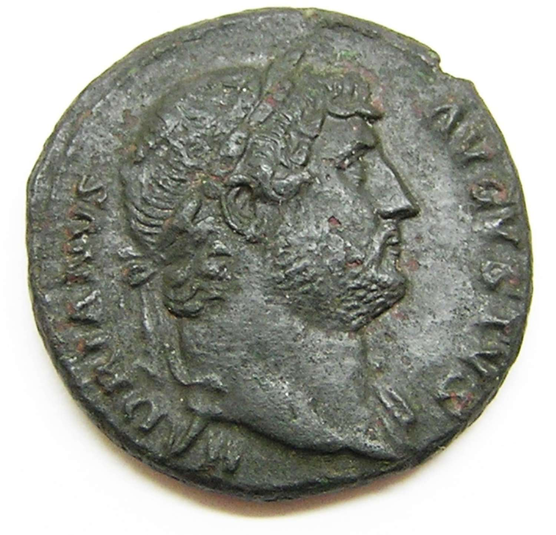 Ancient Roman AE As of Emperor Hadrian / Salus