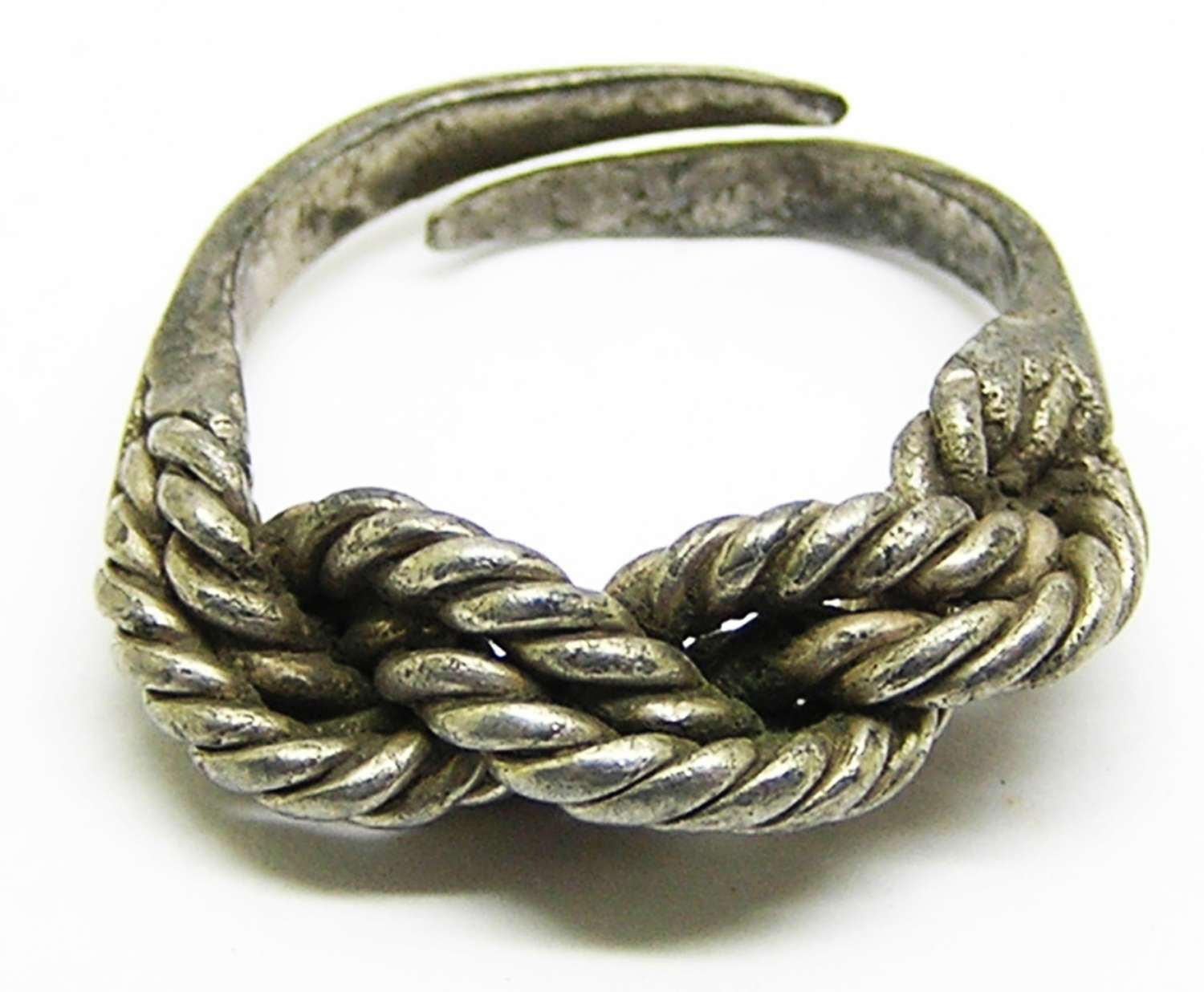 Scandinavian Viking Braided Silver Finger Ring