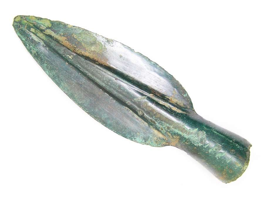 European Bronze age leaf shaped spearhead