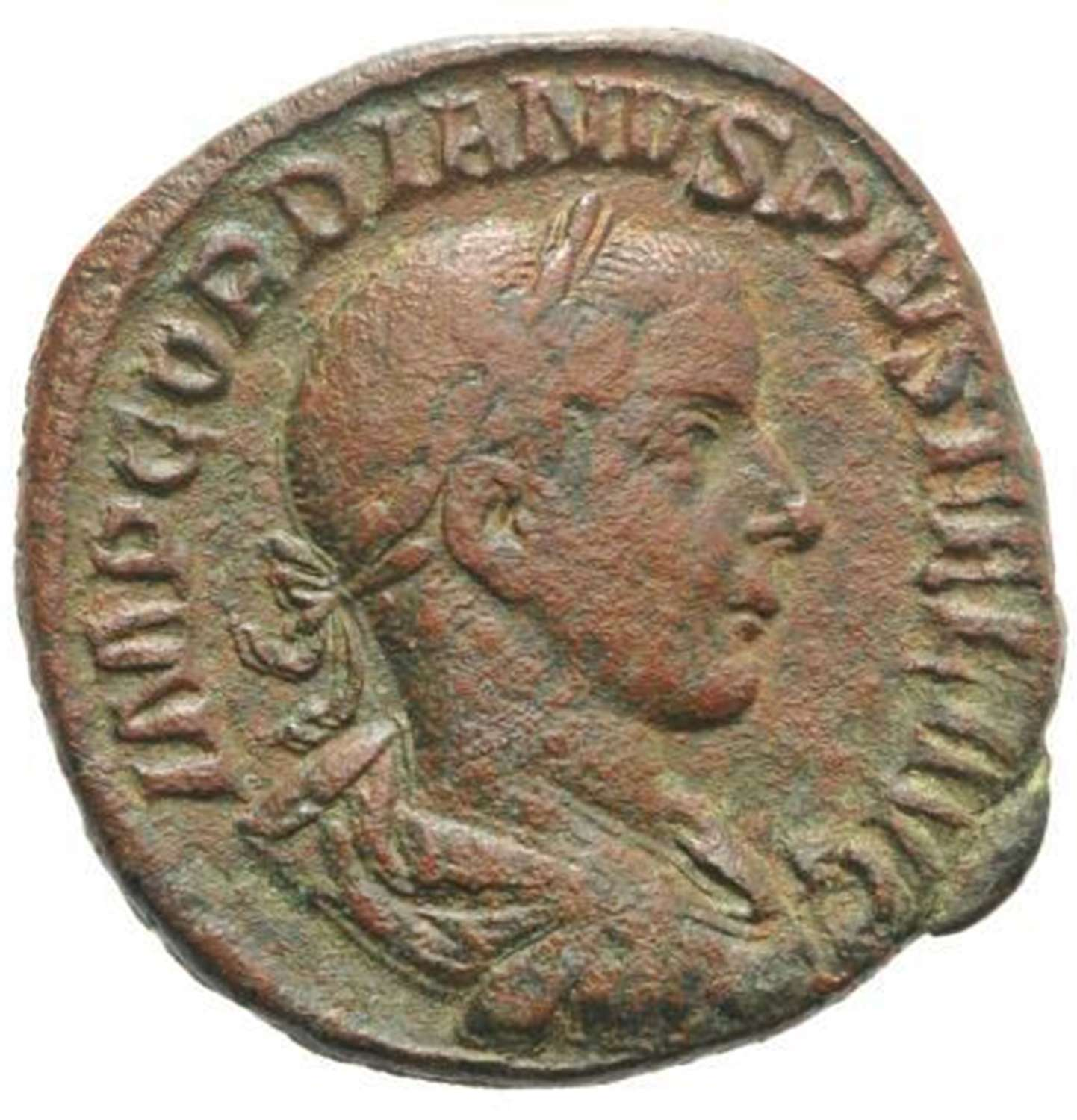 Ancient Roman Æ Sestertius of Emperor Gordian III / Laetitia